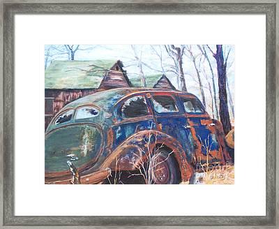 Autumn Retreat - Old Friend Vi Framed Print by Alicia Drakiotes