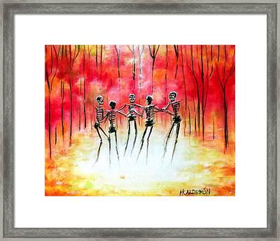 Autumn Ring Framed Print by Heather Calderon