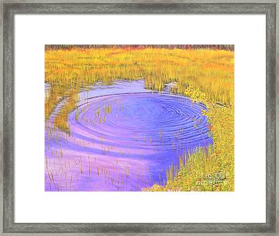 Autumn Ripples Framed Print by Cindy Lee Longhini