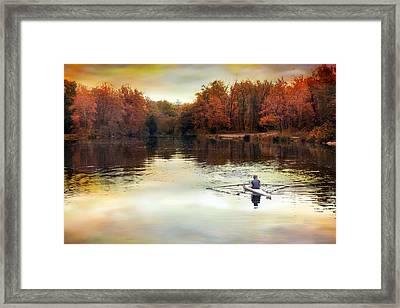 Autumn River Row Framed Print