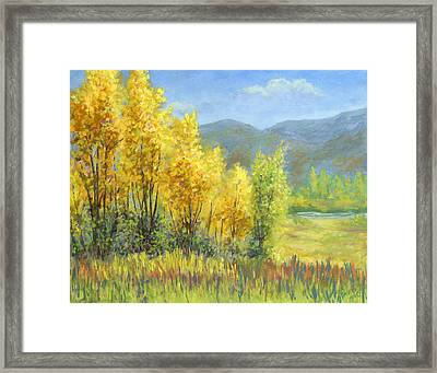 Autumn River Valley Framed Print