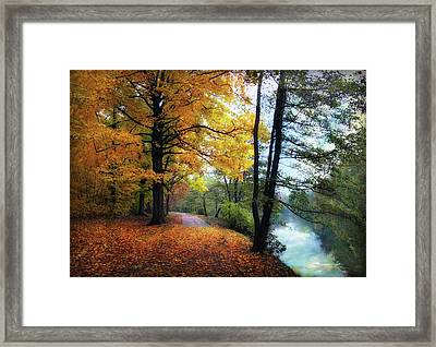 Autumn River View Framed Print by Jessica Jenney