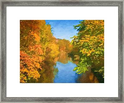 Autumn Riverlight Framed Print