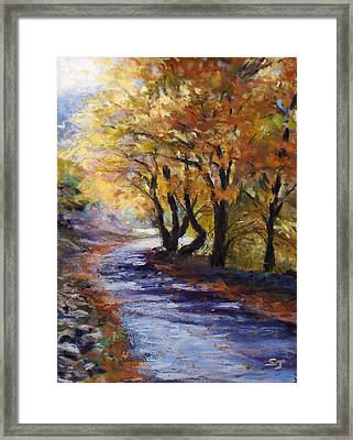 Autumn Road Home Framed Print by Susan Jenkins