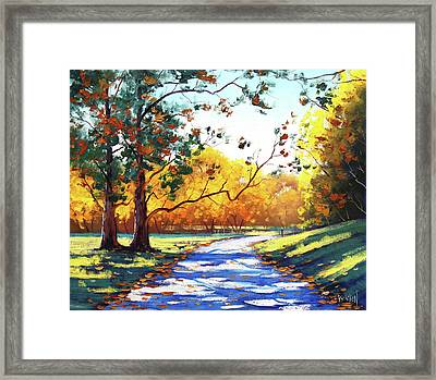 Autumn Road Mt Wilson Framed Print