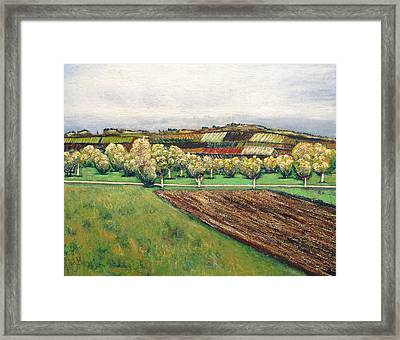 Autumn Road Framed Print by Vladimir Kezerashvili