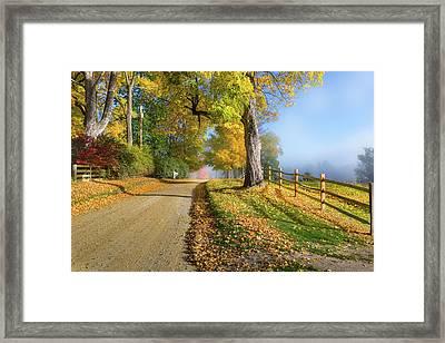 Autumn Rural Road Framed Print