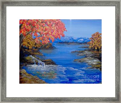 Framed Print featuring the painting Autumn by Saundra Johnson