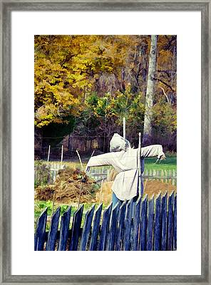 Autumn Scarecrow Framed Print by Jan Amiss Photography