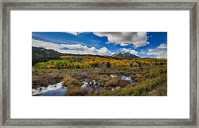 Autumn Season Rocky Mountain Pass Panorama Framed Print by James BO  Insogna
