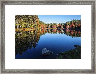 Autumn Serenity In Maine Usa Framed Print