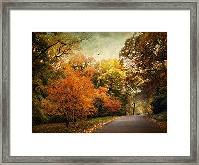 Autumn Settles In Framed Print by Jessica Jenney