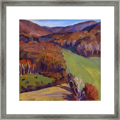 Autumn Shapes Framed Print
