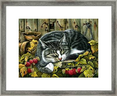 Autumn Siesta Framed Print
