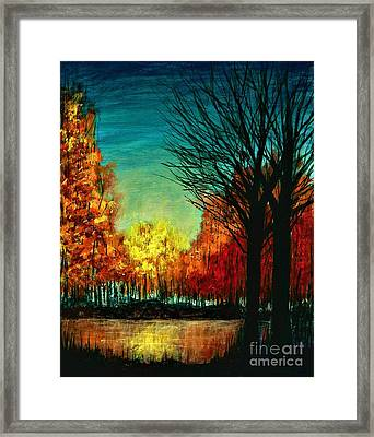 Autumn Silhouette  Framed Print