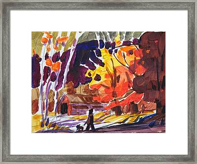 Autumn Sketch Framed Print by Len Stomski