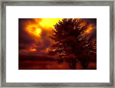 Autumn Skies L.junaluska Framed Print by Dennis Baswell