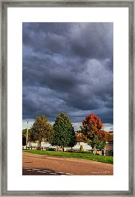 Autumn Sky Framed Print by Jilly SB