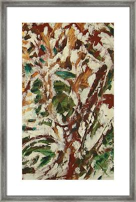 Framed Print featuring the painting Autumn Snow by Patricia Cleasby