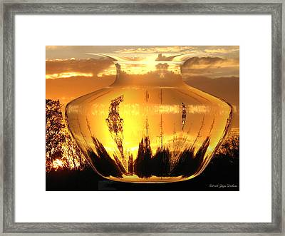 Framed Print featuring the photograph Autumn Spirits by Joyce Dickens