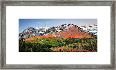 Autumn Splendor In The Ufo Bowls. Framed Print