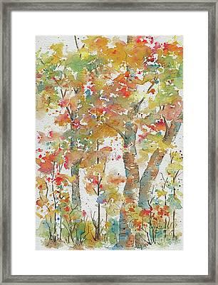 Framed Print featuring the painting Autumn Splendor by Pat Katz