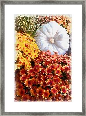 Autumn Splendor Still Life Framed Print by Edward Fielding