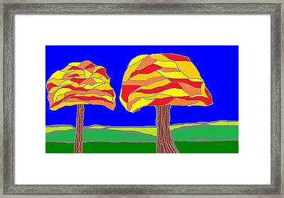 Autumn Stained Glass 1 Framed Print