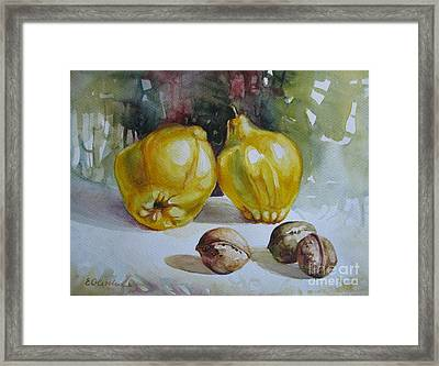 Framed Print featuring the painting Autumn Still Life 2 by Elena Oleniuc