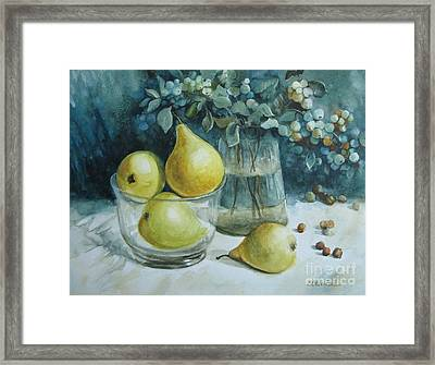 Framed Print featuring the painting Autumn Still Life 3 by Elena Oleniuc