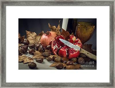 Autumn Still-life Framed Print by Carlos Caetano
