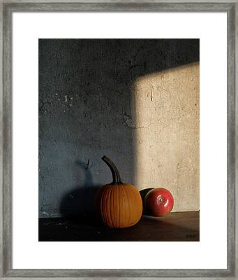 Framed Print featuring the photograph Autumn Still Life I Color by David Gordon