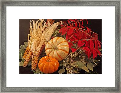 Autumn Still Life Framed Print by Karen Fahey