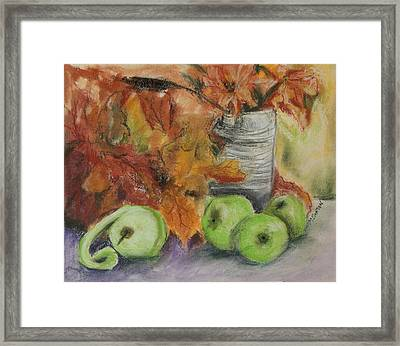 Autumn Still Life Framed Print by Marilyn Barton