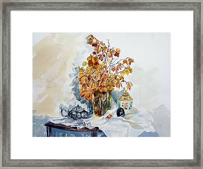 Framed Print featuring the painting Autumn Still Life by Pat Crowther