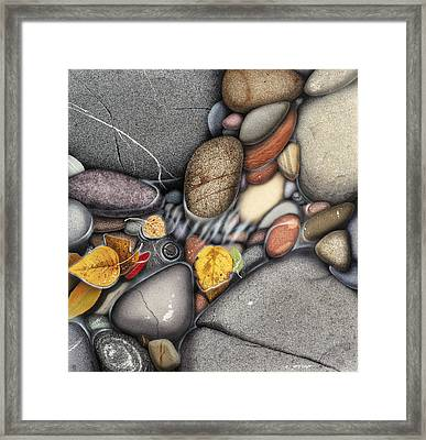 Autumn Stones Framed Print