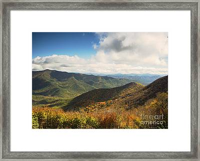 Autumn Storm Clouds Blue Ridge Parkway Framed Print