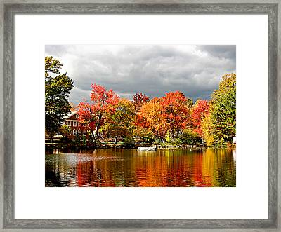 Autumn Storm Coming Framed Print by Susan Savad