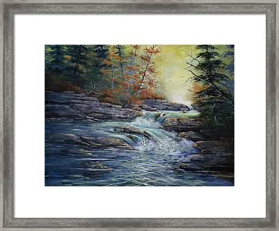 Autumn Stream Framed Print by Brooke Lyman