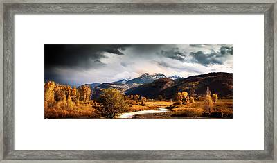 Autumn Stream In Colorado Framed Print by Andrew Soundarajan