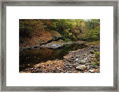 Autumn Stream Framed Print by James Elam