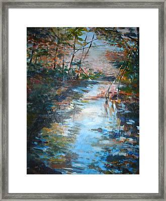Autumn Stream Framed Print by Joyce Kanyuk