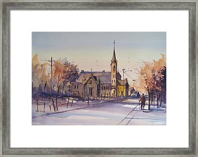 Autumn Stroll In Kaukauna Framed Print