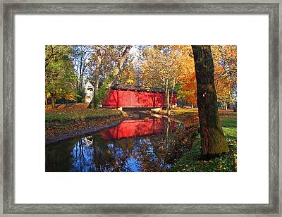 Autumn Sunrise Bridge II Framed Print