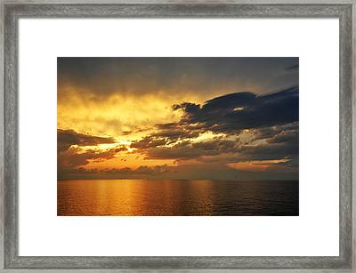 Autumn Sunrise In The Gulf  Framed Print by Bill Perry