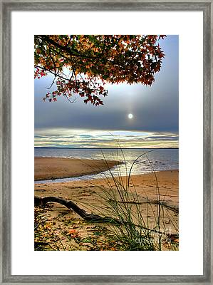 Autumn Sunrise On The James Framed Print