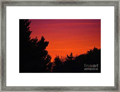 Autumn Sunrise Framed Print
