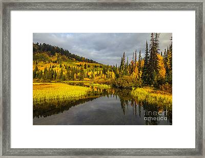 Framed Print featuring the photograph Autumn Sunrise by Spencer Baugh