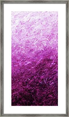 Autumn Sunrise - Violet Framed Print by Julie Turner