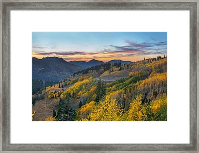 Autumn Sunset At Guardsman Pass, Utah Framed Print
